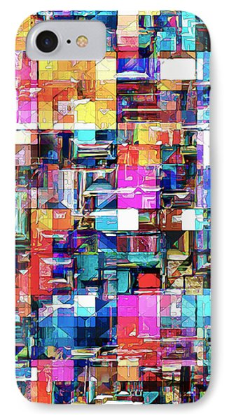 Abstract Chaos Of Colors IPhone Case by Phil Perkins