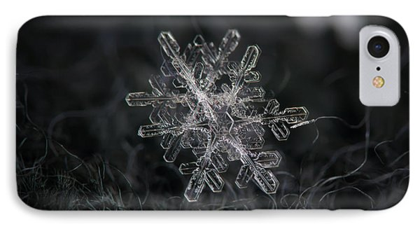 Snowflake Photo - January 18 2013 Grey Colors IPhone Case by Alexey Kljatov