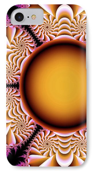 The Mad Hatter Spiral Staircases Fractal Swirls IPhone Case by Tina Lavoie