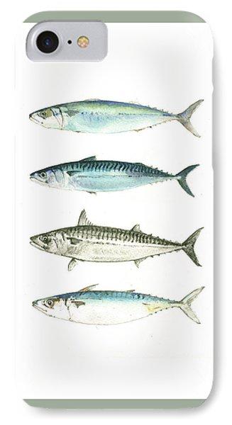 Mackerel Fishes IPhone Case by Juan Bosco