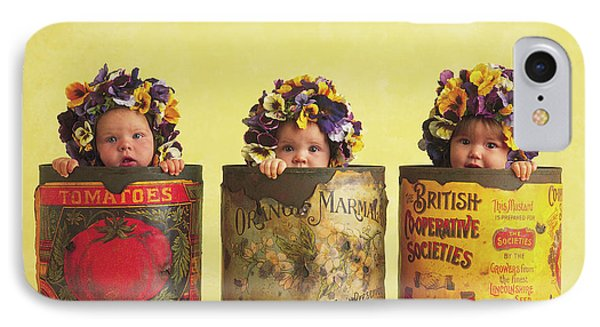 Pansy Tins IPhone Case by Anne Geddes
