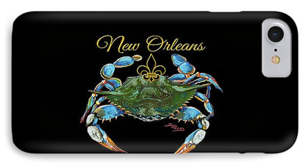 Louisiana Blue On Red IPhone Case by Dianne Parks