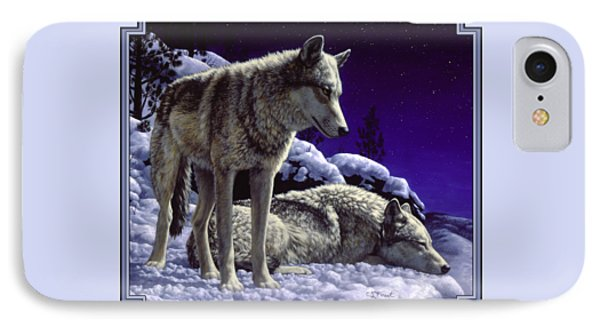 Wolf Painting - Night Watch IPhone 7 Case by Crista Forest