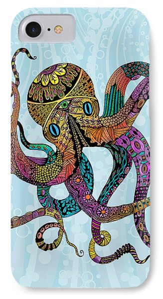 Electric Octopus IPhone Case by Tammy Wetzel