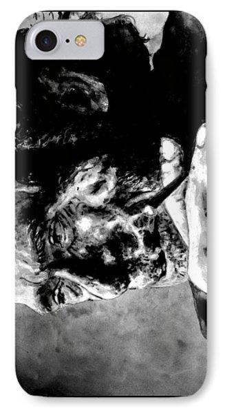 Charles Bukowski IPhone Case by Richard Tito