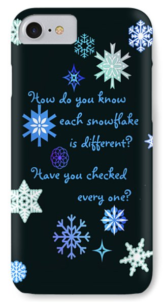Snowflakes 2 Phone Case by Methune Hively