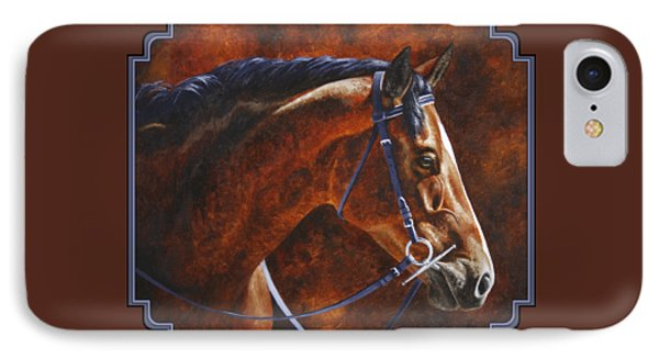 Horse Painting - Ziggy IPhone Case by Crista Forest