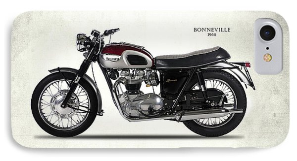 Triumph Bonneville 1968 IPhone Case by Mark Rogan