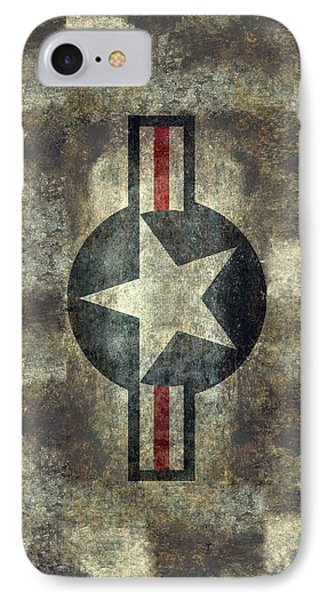 Us Air Force Roundel With Star IPhone Case by Bruce Stanfield