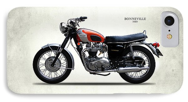 Triumph Bonneville 1969 IPhone Case by Mark Rogan