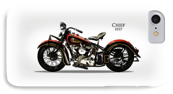 Indian Chief 1937 IPhone Case by Mark Rogan
