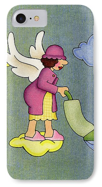Heavenly Housekeeper IPhone Case by Sarah Batalka