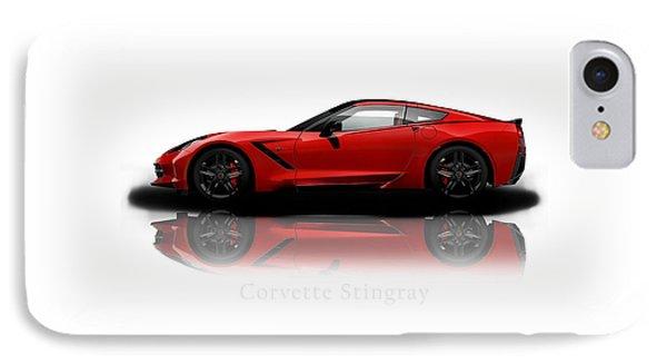 Chevrolet Corvette Stingray IPhone Case by Mark Rogan