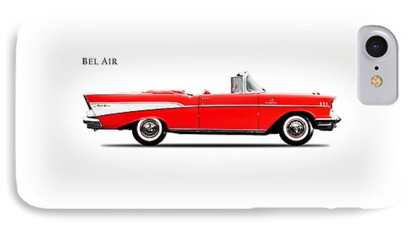 Chevrolet Bel Air Convertible 1957 IPhone Case by Mark Rogan