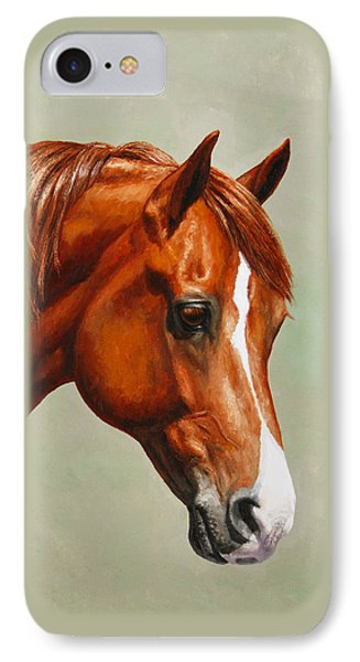 Morgan Horse - Flame Phone Case by Crista Forest