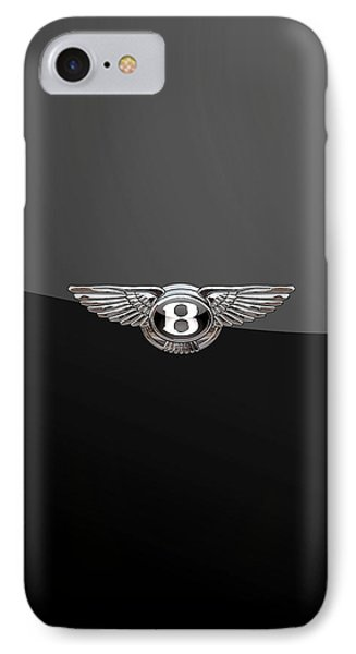 Bentley - 3d Badge On Black IPhone Case by Serge Averbukh