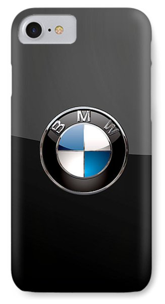 B M W - 3d Badge On Black IPhone Case by Serge Averbukh