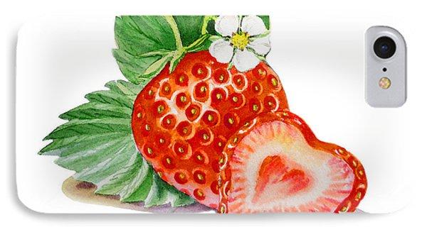 Artz Vitamins A Strawberry Heart IPhone 7 Case by Irina Sztukowski