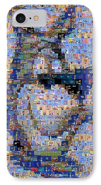 Astro Jetsons Mosaic Phone Case by Paul Van Scott