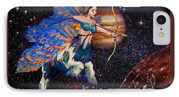 Astrology Sagittarius Angel  IPhone Case by Michele Avanti