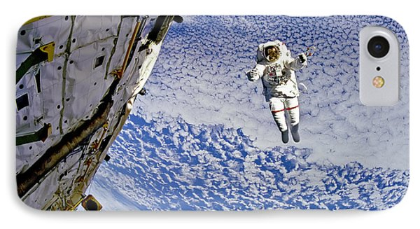 Astronaut In Atmosphere Phone Case by The  Vault - Jennifer Rondinelli Reilly