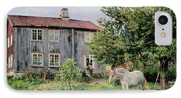 At The Farm Phone Case by Gerhard Peter Frantz Vilhelm Munthe