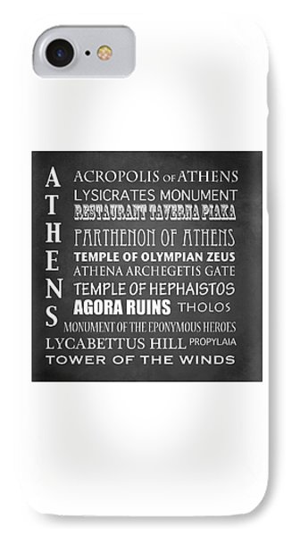 Athens Famous Landmarks IPhone Case by Patricia Lintner