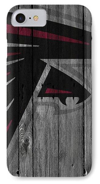 Atlanta Falcons Wood Fence IPhone 7 Case by Joe Hamilton