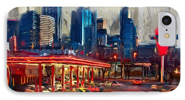 Atlanta Skyline 231 1 IPhone Case by Mawra Tahreem