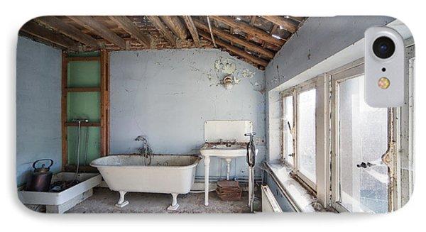 Attic Bathroom - Urban Exploration IPhone Case by Dirk Ercken