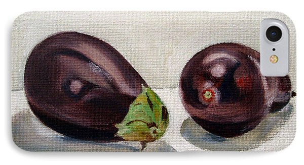 Aubergines IPhone Case by Sarah Lynch