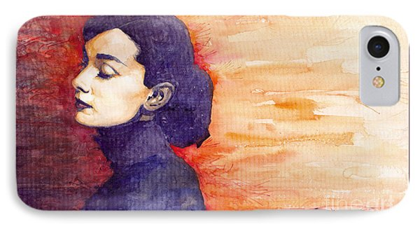 Audrey Hepburn 1 IPhone 7 Case by Yuriy  Shevchuk