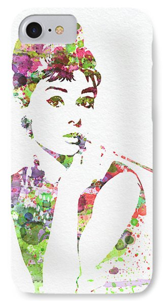 Audrey Hepburn 2 Phone Case by Naxart Studio