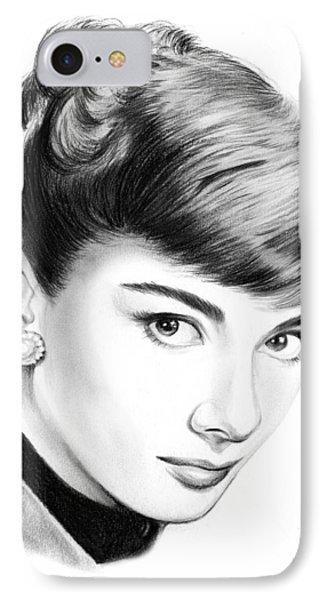 Audrey Hepburn IPhone Case by Greg Joens