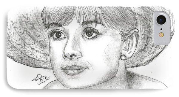 Audrey Hepburn Smile IPhone Case by Steven White