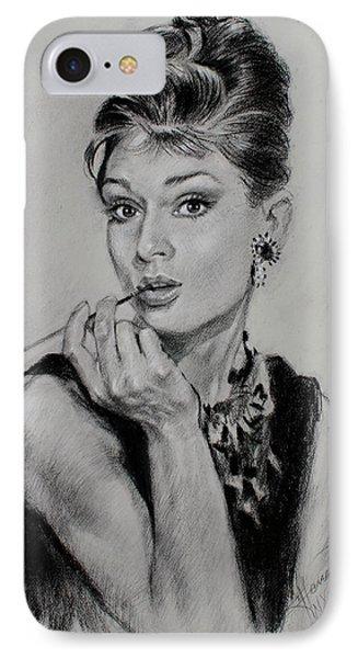 Audrey Hepburn Phone Case by Ylli Haruni