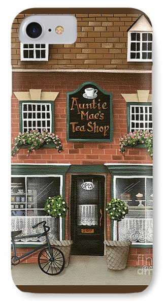 Auntie Mae's Tea Shop IPhone Case by Catherine Holman