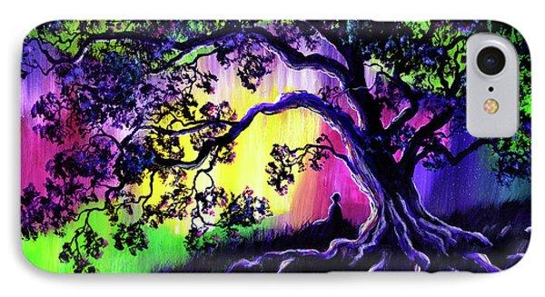 Aurora Borealis Tree Of Life Meditation IPhone Case by Laura Iverson