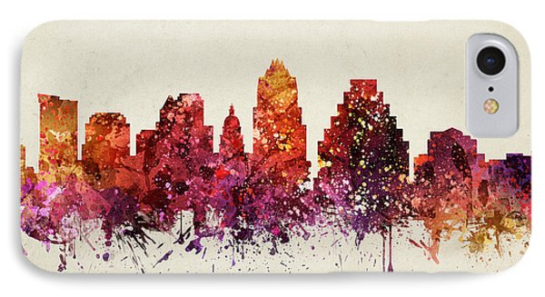 Austin Cityscape 09 IPhone Case by Aged Pixel