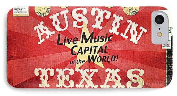 Austin Live Music IPhone Case by Trish Mistric