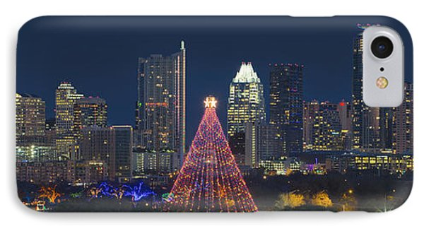 Austin Panorama Of The Trail Of Lights And Skyline IPhone 7 Case by Rob Greebon