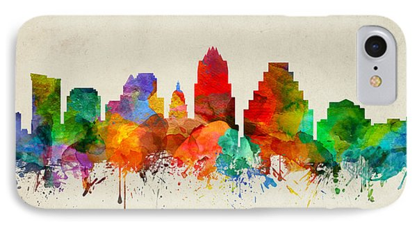 Austin Texas Skyline 22 IPhone Case by Aged Pixel