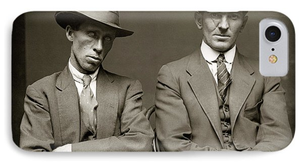 Australian Gangster Mugshot C. 1920 IPhone Case by Daniel Hagerman
