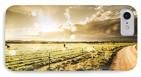 Australian Rural Dirt Road  IPhone Case by Jorgo Photography - Wall Art Gallery
