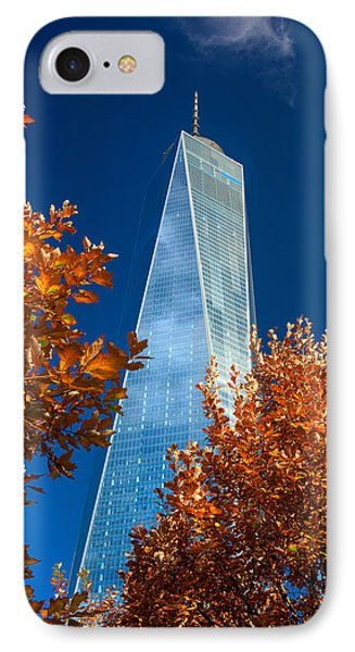 Autumn At One Wtc IPhone Case by Rick Berk
