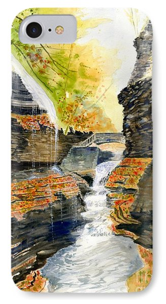 Autumn At Rainbow Falls  Phone Case by Melly Terpening