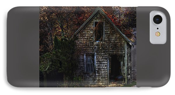 Autumn Barn IPhone Case by Janet Ballard