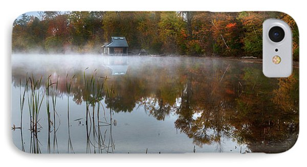 Autumn Boathouse IPhone Case by Bill Wakeley
