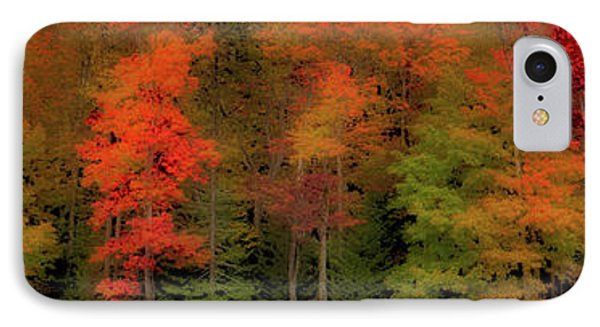 Autumn Fence Line IPhone Case by David Patterson