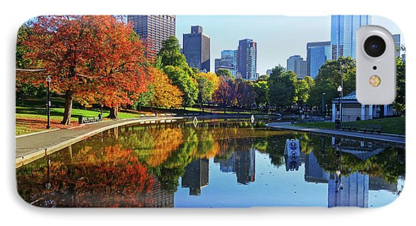 Autumn Foliage On The Boston Common Frog Pond IPhone Case by Toby McGuire